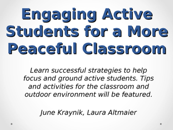 Engaging Active Students workshop