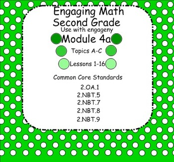 Engage NY Math Module 4A for Second Grade Smart Board for