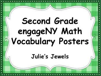 Engage NY Math Second Grade Vocabulary Posters