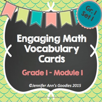 Engaging Math Vocabulary Cards 1.1