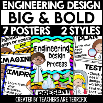 Engineering Design Process Posters: Big and Bold Version