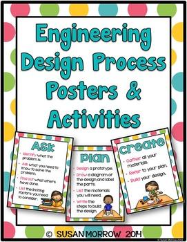 Engineering Design Process Posters - Bright Polka Dots
