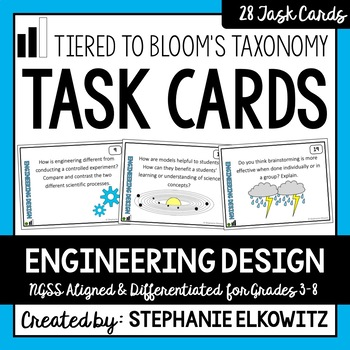 Engineering Design Task Cards (Differentiated and Tiered)