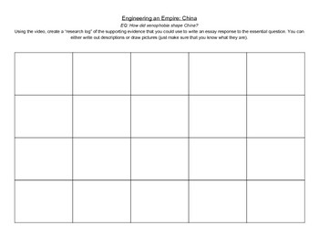 Engineering an Empire Research Logs