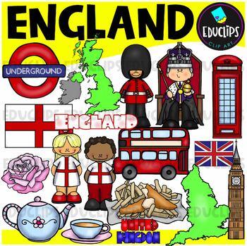 England Clip Art Bundle