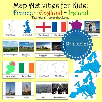 England, Ireland and France Maps and Pictures