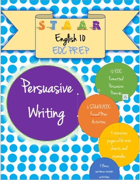 English 10 STAAR EOC Persuasive Essay Activity and Prompt