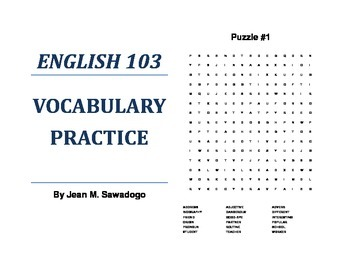 English 103 Vocabulary Practice