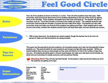 English Activity & Game - FEEL GOOD CIRCLE