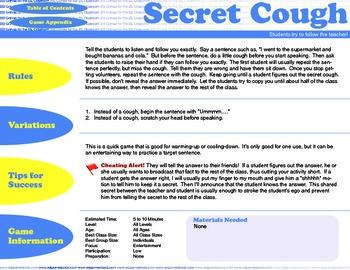 English Activity & Game - SECRET COUGH