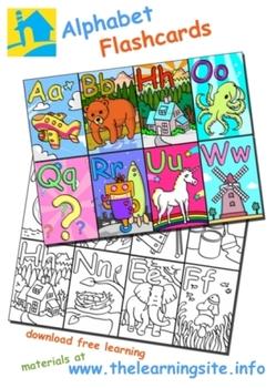 English Alphabet Flashcards and Clip Art