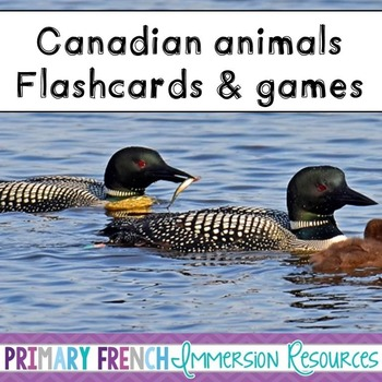 English - Canadian Animals - Flashcards, Word wall words,