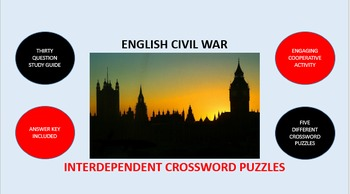 English Civil War: Interdependent Crossword Puzzles Activity