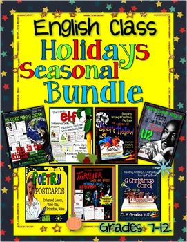 ENGLISH CLASS HOLIDAYS SEASONAL BUNDLE FOR MIDDLE SCHOOL A