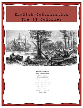 English Colonization (American Colonies) in the Americas