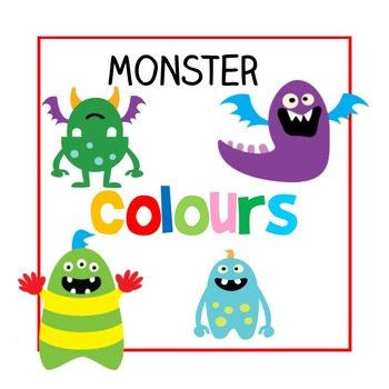 English 'Colours' Posters (With Fun Monsters (: )