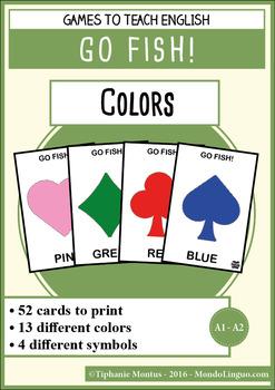 English/ESL - Games - Go Fish - Colors