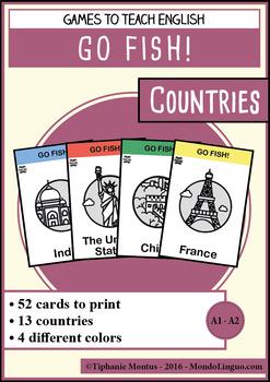 English/ESL - Games - Go Fish - Countries