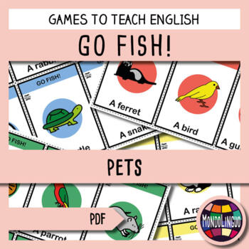 Card game to teach English/ESL: Go Fish about Pets