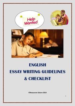 English Essay Writing Guidelines & Checklist
