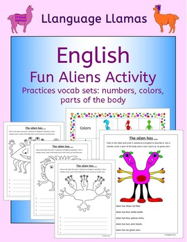 English Numbers, Colors, Parts of the Body - Fun Aliens Ac