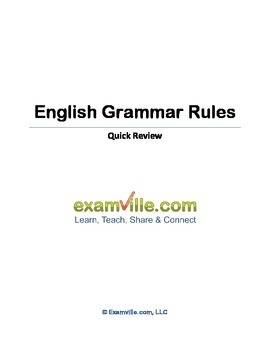 English Grammar Rules - Quick Review