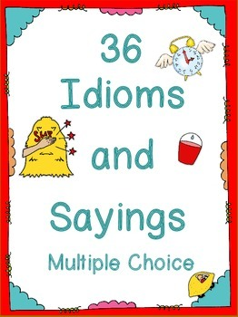 Idioms and Sayings  multiple choice tests