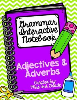 English Interactive Notebook - Adjectives and Adverbs