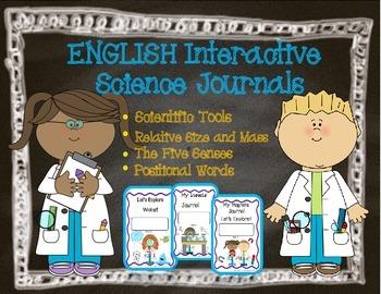 Interactive Science Journals Kindergarten/1st: Tools,Size/