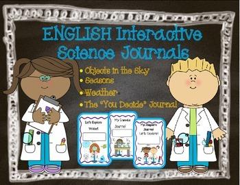 Interactive Science Journals for Kindergarten/1st:Earth/Sk