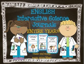 Interactive Science Journals for Kindergarten/1st:  Entire