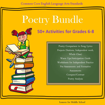 English Language Arts - POETRY BUNDLE - 50+ Activities for