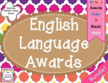 End of the Year Awards {Bundle}