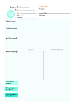Monday English Lesson Plan Template