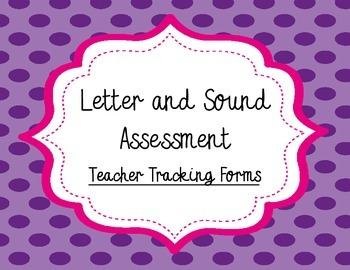 English Letter ID and Letter Sound Assessment Pack:  Teach