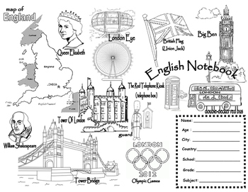 English Notebook cover - London-.