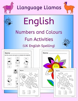English: Numbers and Colours - Fun Activities (UK English)