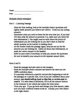English Regents Multiple-Choice Strategies