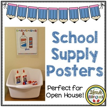 English School Supply Posters