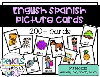 English Spanish Picture Cards