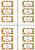 English - Spanish Thanksgiving Vocabulary