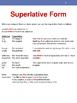English Superlative Adjectives with Photos