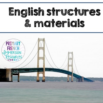 English Unit - Structures and Materials (grade 1)