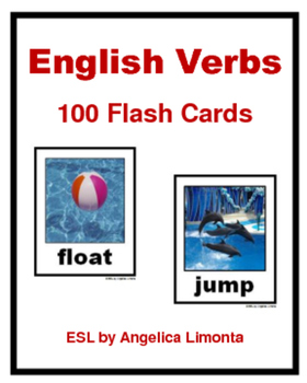 English Verbs:100 Flash Cards with Photos & PowerPoint Lesson