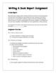 English: Writing A Book Report Grades 6 - 12