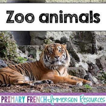 English Zoo Animals - Flashcards, Word wall words, BANG ga