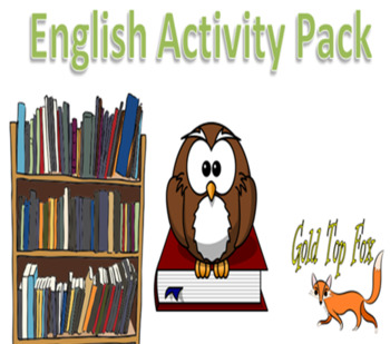 English activity pack for World Book Day