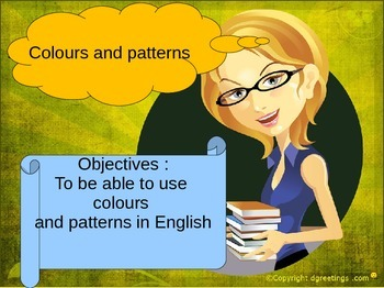 English colours and patterns for ESL or beginners powerpoint