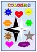 English colours Poster .A3 .