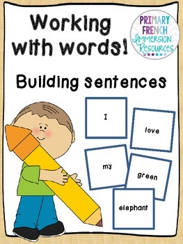 English sentence making/magnetic words